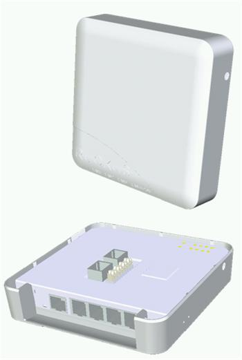 Doprodej - ZF7055-802.11n dual-band concurrent 2.4 GHz & 5 GHz, Wired/Wireless Wall Switch, 1 10/100/1000 & 4 10/100FE